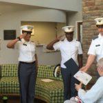 soldiers salute veteran