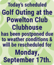 Golf Postponed to September 17