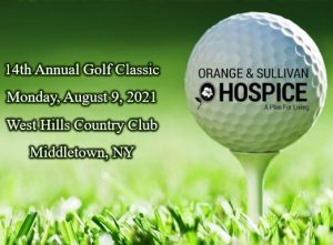 14th Annual Golf Classic MOnday, August 9, 2021 West Hills Country Club Middletown, NY